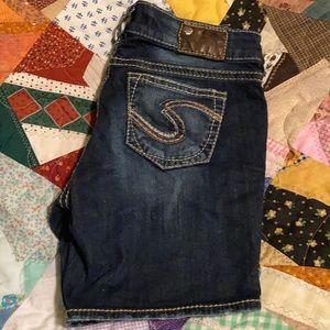 Silver Suki denim shorts